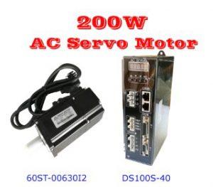 เซอร์โวมอเตอร์ 200W AC Motor 3000RPM-2500Line Encoder.