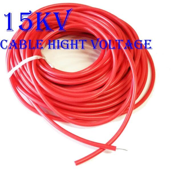 สายไฟ High Voltage ขนาด 15KV-DC 17AWG, -65C~200C