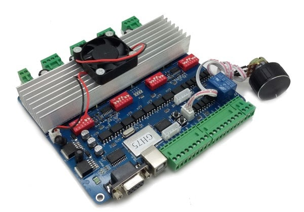 CNC 4 AXIS สาย USB + KeyBoard Control
