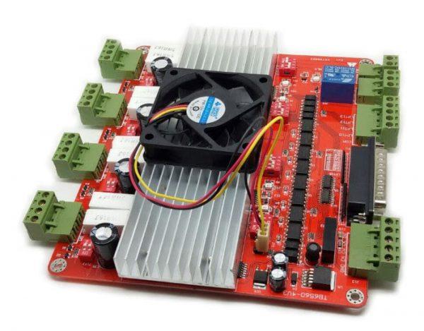 4 Axis TB6560HQT4-v3-สีแดง