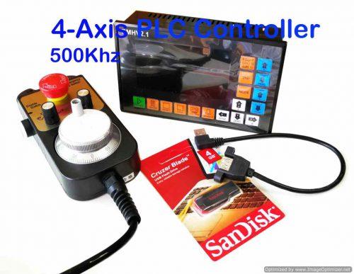 4 Axis PLC Controller 500KHz
