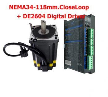 NEMA34-L118 + Digital Driver DE2608, 8.5N.m