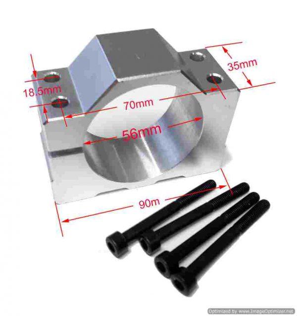 Aluminum Clamp 56mm.