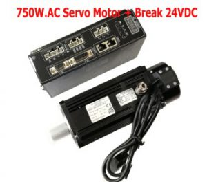 750W.AC Servo Motor with Brake 24VDC