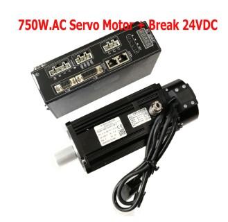 750W.AC Servo Motor with Brake 24VDC