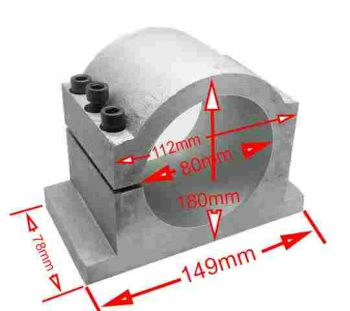 Aluminum Clamp 80mm.