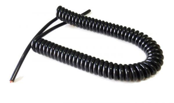 SpiralCable ขนาด 2core 0.5sqmm.ยืดออก 2ม.