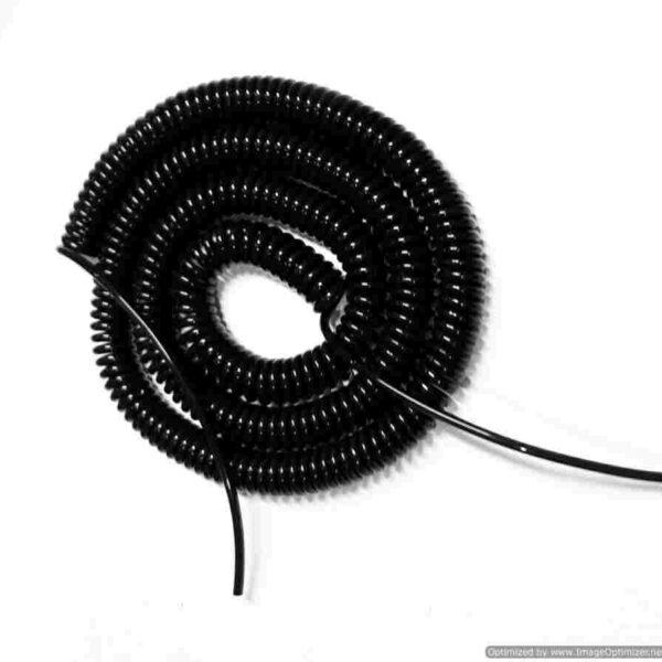 Spiral Spring Cable ขนาด 2core, 0.5 Sqmm. ยืดออก 10ม.
