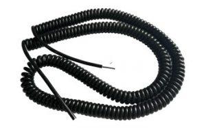 Spiral Spring Cable ขนาด 2core, 1.0 Sqmm. ยืดออก 8ม.