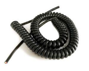 Spiral Spring Cable ขนาด 4core, 2.5sqmm. ยืดออก 5ม.