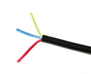 Spiral Cable ขนาด 3core,1.5sqmm. ยืดออก 2ม.