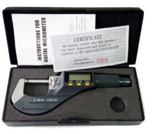 0-25mm Micron Digital Outside Micrometer