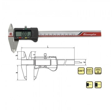 0-100mm 4inch Digital Caliper Guanglu Brand