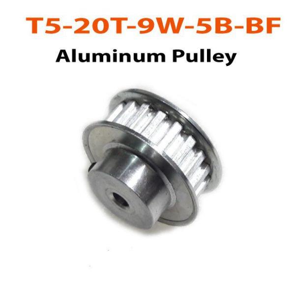 T5-20T-9W-5B-BF Aluminum Pulley
