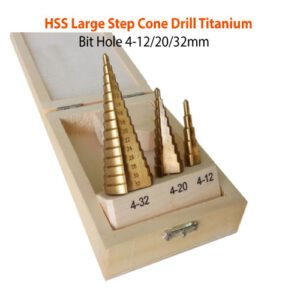 HSS-Large-Step-Cone-Drill-Titanium-Bit-Hole-12-20-32mm