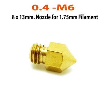 0.4mm-M6-1.75mm-Nozzle-MK8