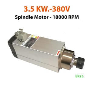 3.5KW-380V-ER25-Spindle-Motor