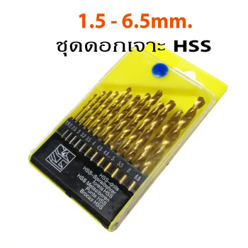 13pcs HSS Titanium Coated Drill Bit