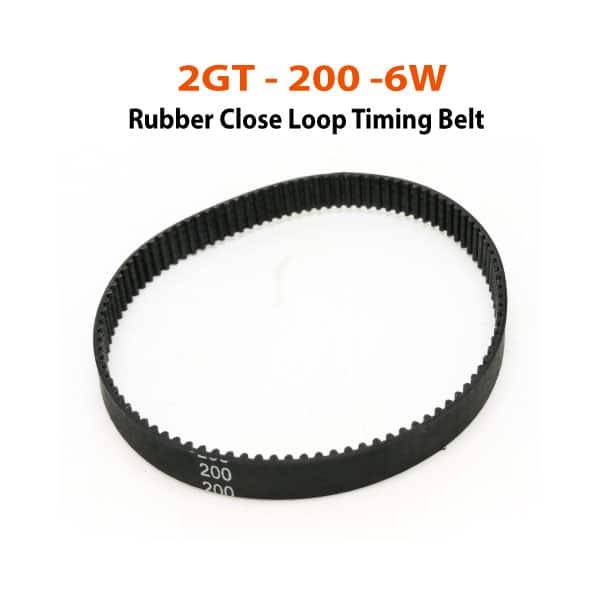 2GT-200-6W Rubber CloseLoop Belt