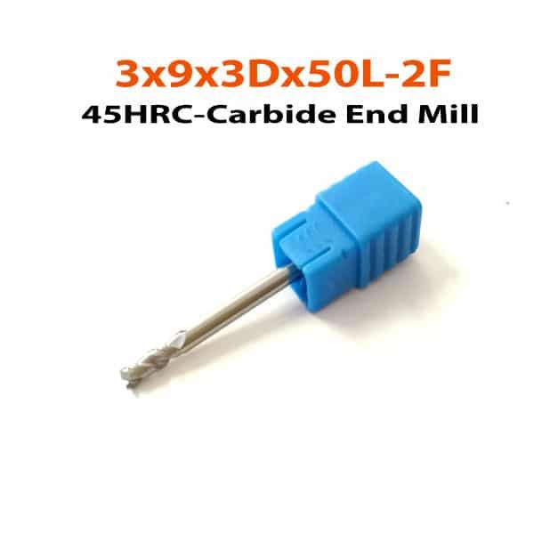 3x9x3Dx50L-2F-HN45-Carbide-End-Mill