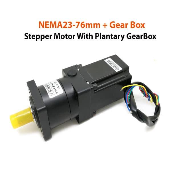 NEMA23-76mm-Motor-+-Plantary-GearBox